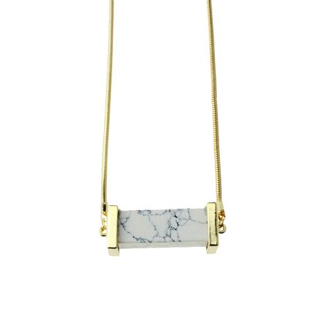 MARBLE GOLDEN BAR NECKLACE  $7,00