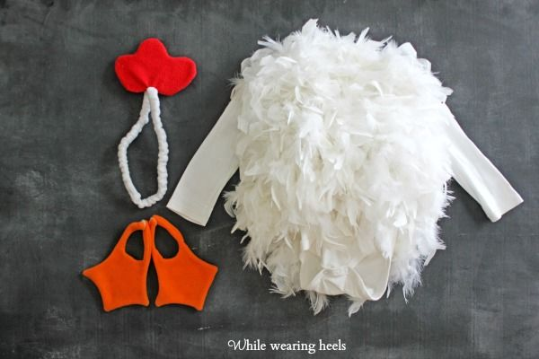 While Wearing Heels: Martha Stewart DIY Chicken costume come to life.  #chicken #halloween #marthastewart