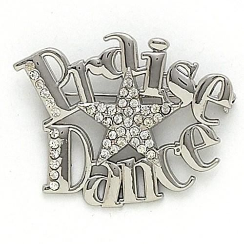 """Dance Mom, need we say more? This pins slightly larger design makes it perfect for pinning on bags or any outfit. Measures approximately 2""""x2.25"""""""