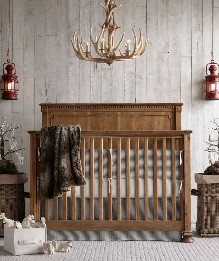 rustic nursery with outdoorsy accents. #rhbabyandchild