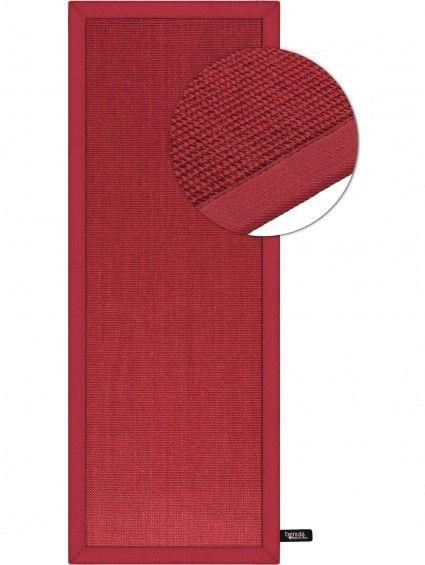Teppich Sisal Läufer Rot 68x300 cm
