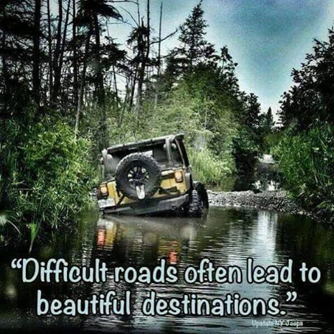 If you open your mind you will see beautiful things in nature while riding in your jeep