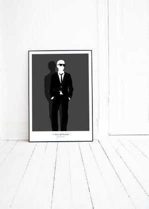 MAN IN GLASSES graphic illustration by Pernilla Algede. Buy at houseofbeatniks.com