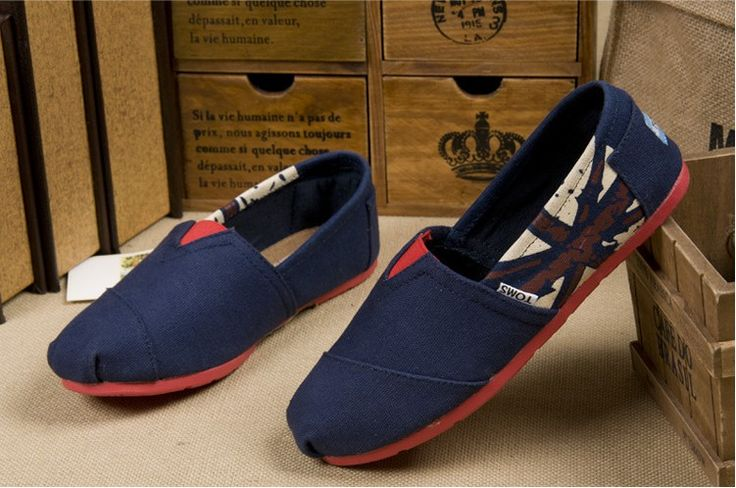 New Arrival Toms women shoes Blue flag $18.65 ♥♥♥