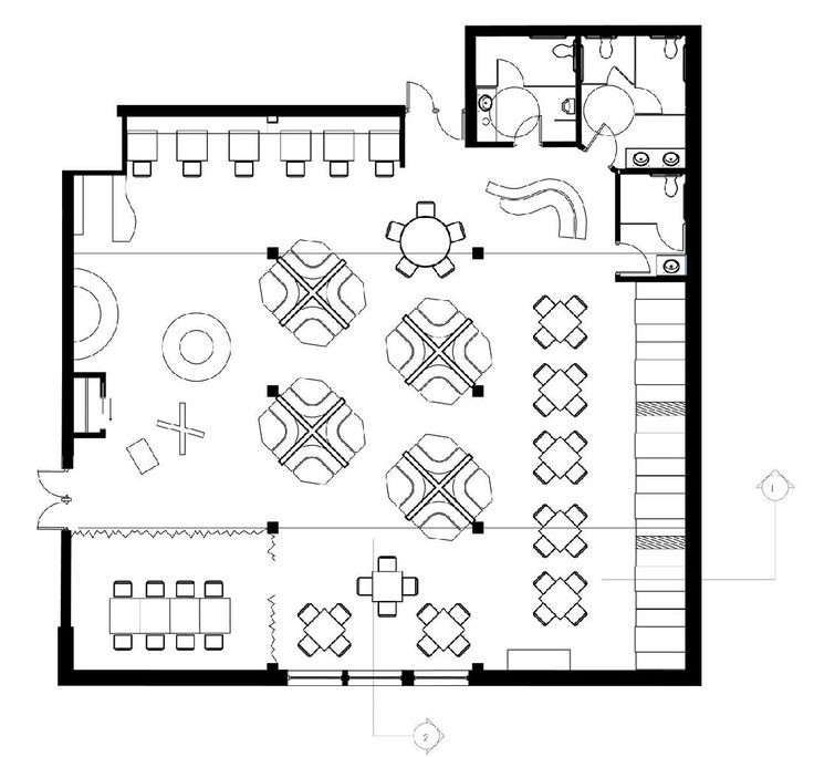 31 best images about architectural floor plans on pinterest restaurant ground floor and brewery for Plan bar cuisine
