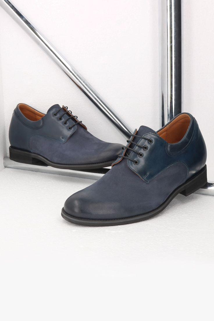Podwyzszajace Buty Meskie Skorzane Granatowe Wolter Ce0472 08 Dress Shoes Men Oxford Shoes Dress Shoes