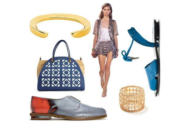 Clothing and accessories from Maiyet's 2014 collections.