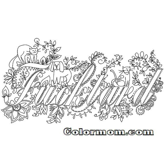 Swear Word Printable Adult Coloring Pages Sketch Coloring Page