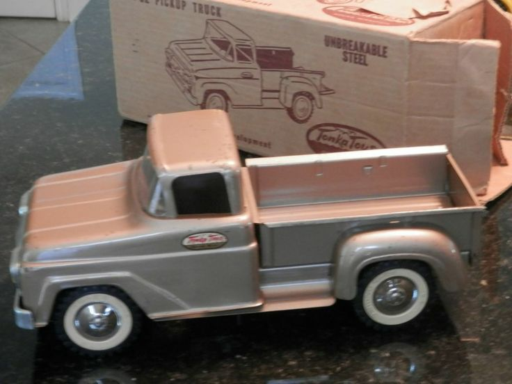 Vintage Tonka Pick Up Toy Truck With Original Box Early 60