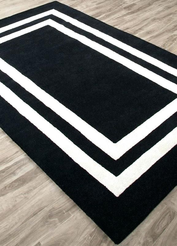 Navy Blue Area Rug 5x7 With Images Black Rug Border Rugs