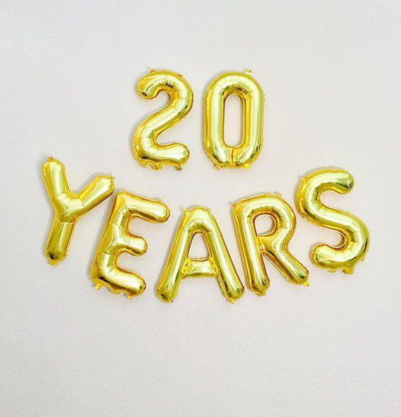 20 YEARS Balloon 20th Birthday Photo Prop 20th Anniversary