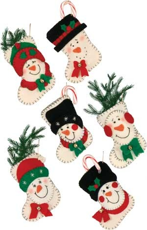 Snowmen Stocking Mini Gift Holders