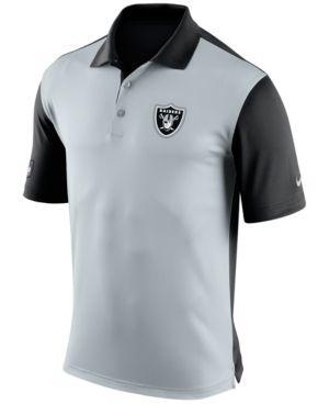 Nike Men's Oakland Raiders Preseason Polo - Silver S