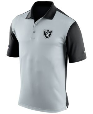 Nike Men's Oakland Raiders Preseason Polo - Silver S
