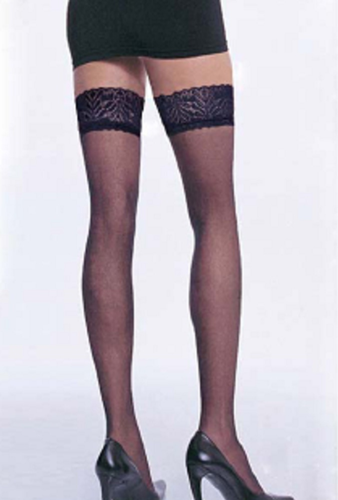 Sheer Thigh High Stockings With Top Lace