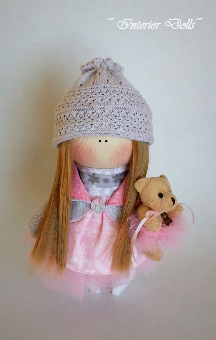Handmade Doll-Textile Doll-Fabric Doll-Rag Doll-Soft Doll-Home Decoration-Handmade Toy-Baby girl Nicole by IntDolls on Etsy