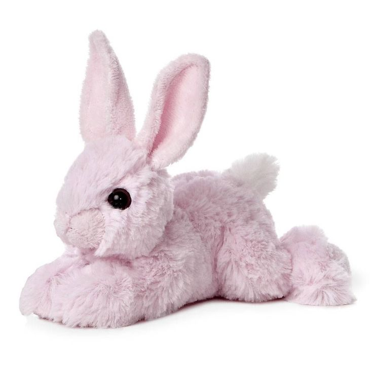 Small Toy Rabbits : Quot aurora plush pink rabbit easter bunny mini flopsie