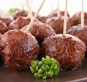 Crock-Pot BBQ Party Balls - Edna's Kitchen | Dahl's Foods