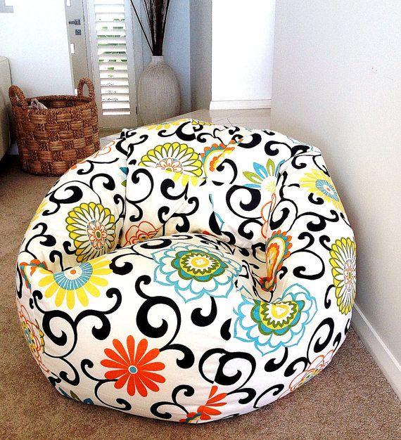 Bean Bag Designer Modern Colourful Floral By IslandHomeEmporium