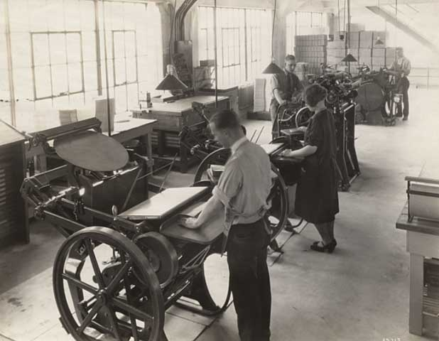 McGill Company Print Shop St Paul MN 1920
