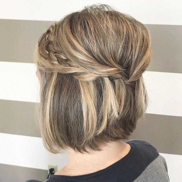 28 wunderschöne Hochzeitsfrisuren für kurzes Haar im Jahr 2019   – Easy Hairstyles