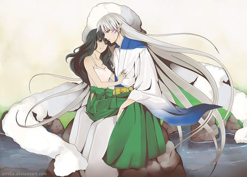 best sesshomaru and kagome images on pinterest