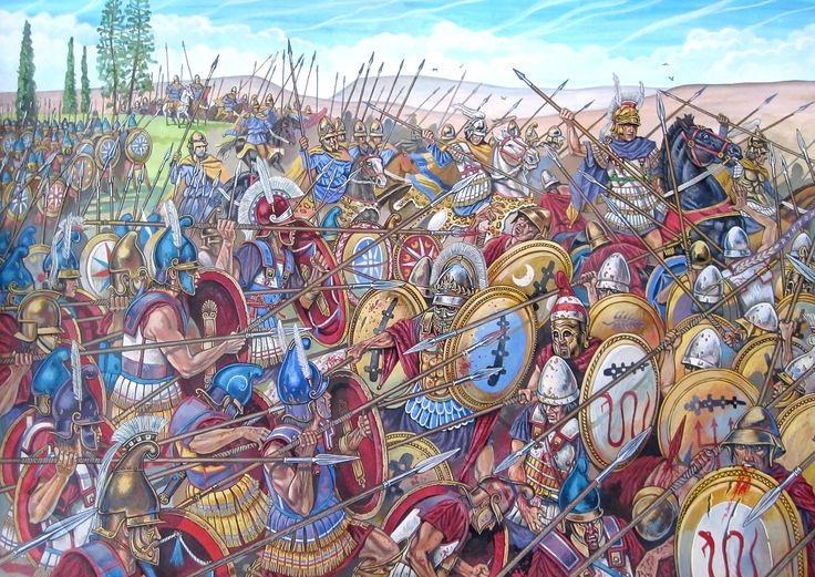 A juego con la anterior, el Batallón Sagrado de Tebas encuentra su fin a manos del Magno durante la batalla de Queronea, cortesía de A.V. Kurkin. Más en www.elgrancapitan.org/foro