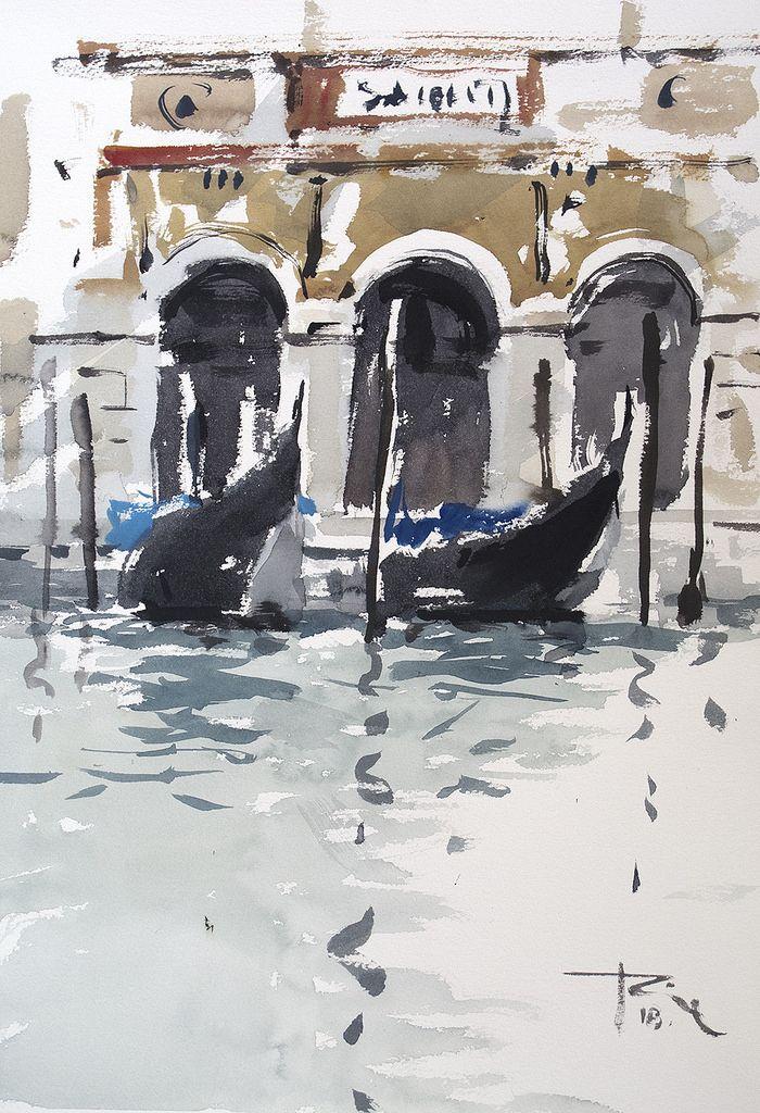 Epingle Sur Aquarelle Venise