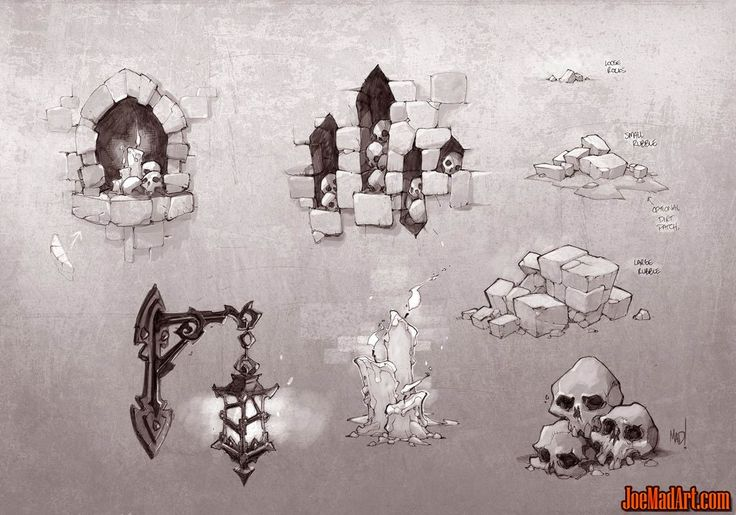Battle-Chasers-NightWar-dungeon-decor-conceptart-madureira-tecture.jpg (1143×800)