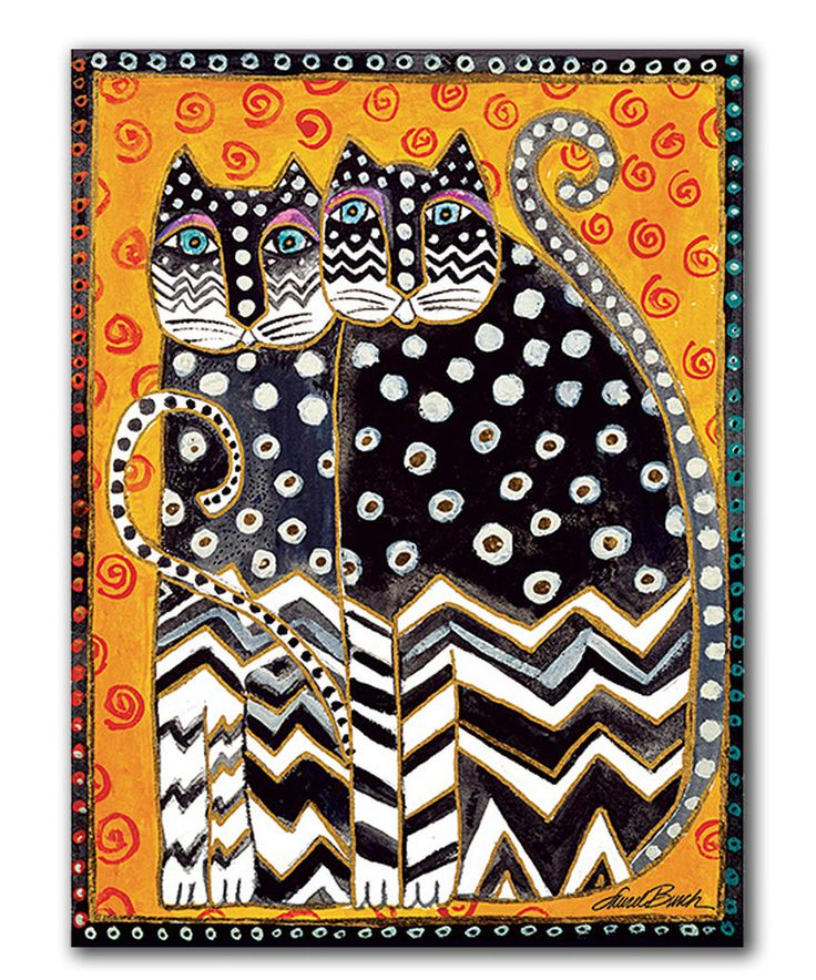 Look at this Zigzag Cats Wrapped Canvas on #zulily today!