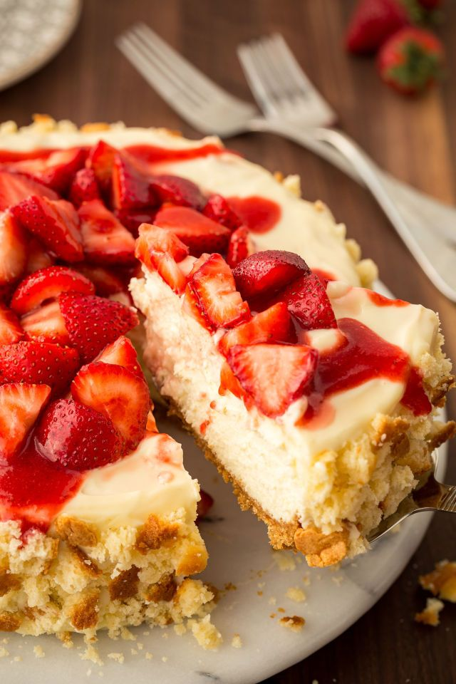 Our Strawberry Shortcake Cheesecake Is the Dessert of Summer