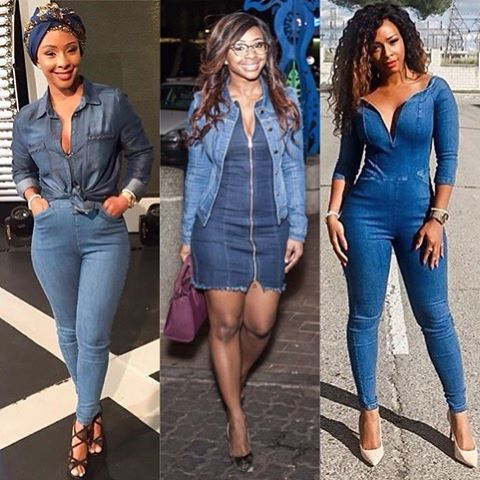 The beauty of denim is its versatility...#DenimIsForever - Boity Thulo