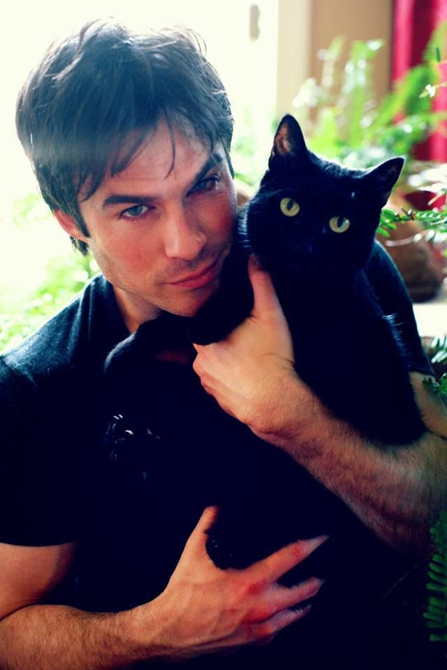 Ian - is that his cat or a prop? lol