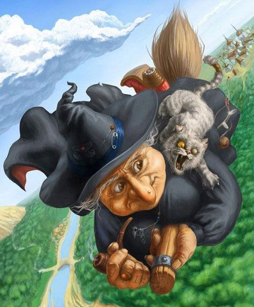 witches cat~ Nanny Ogg and Grebo?
