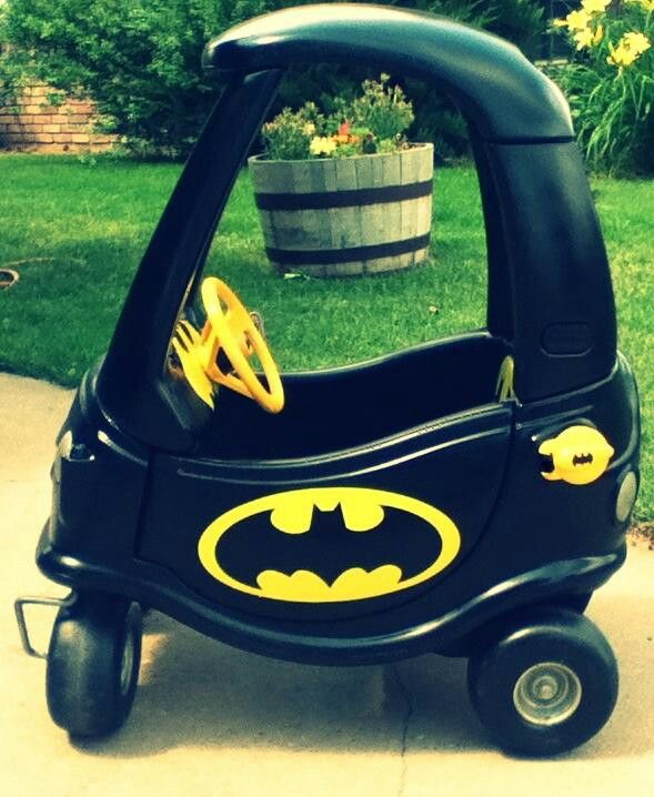 Cozy coupe to rocking batmobile!