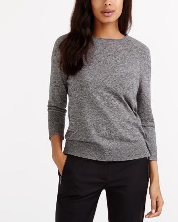 Grey Essential 3/4 sleeve sweater