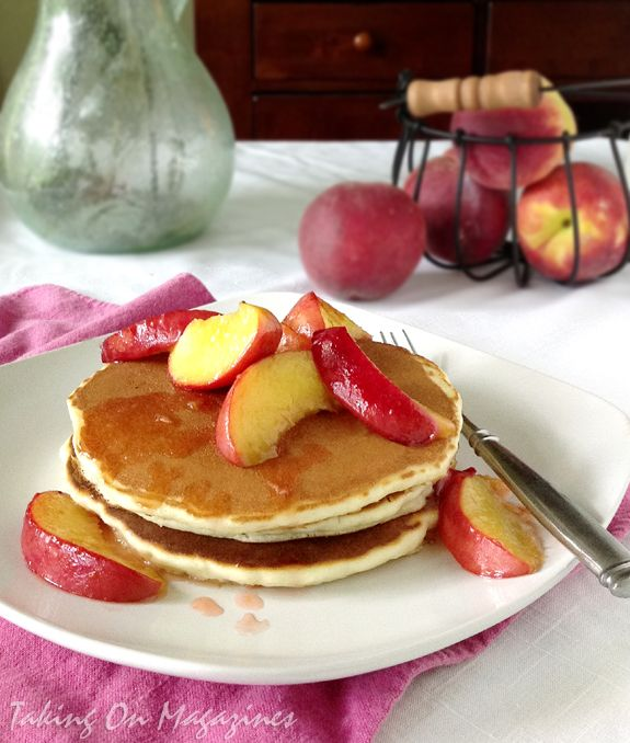Peach Pancakes via Taking On Magazines