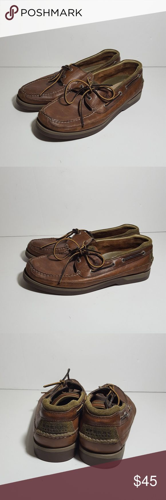 Sperry Mens Sz 12M Mako Dock Boat Shoes Brown Sperry Top-Sider Mako Collection mens shoes. Size 12M Leather boat/dock shoes. Leather. Brown. Used condition Sperry Top-Sider Shoes Loafers & Slip-Ons