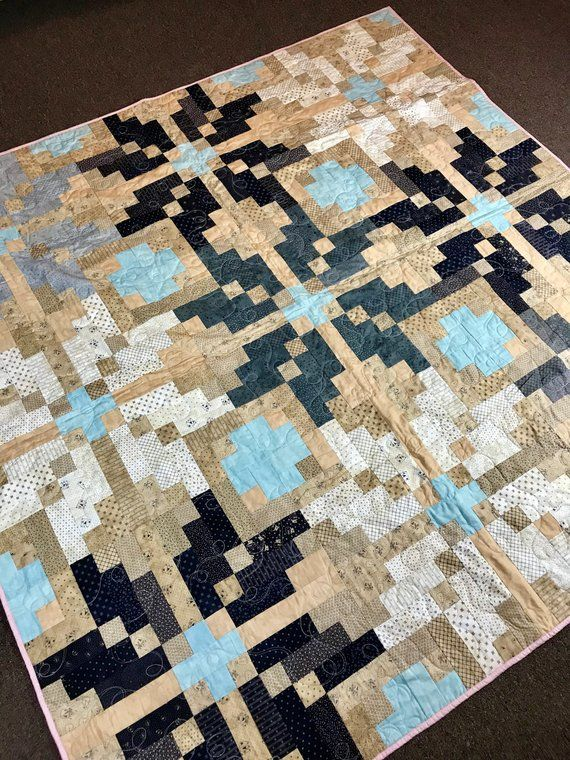 Nordic Snowflake Quilt Handmade Ready To Ship