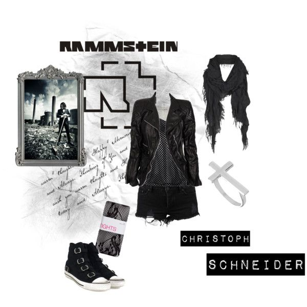 Look inspirado no Christoph Schneider do Rammstein.