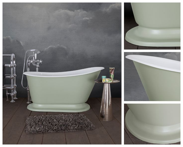 The Cameo. A beautifully proportioned single ended cast iron slipper bath.