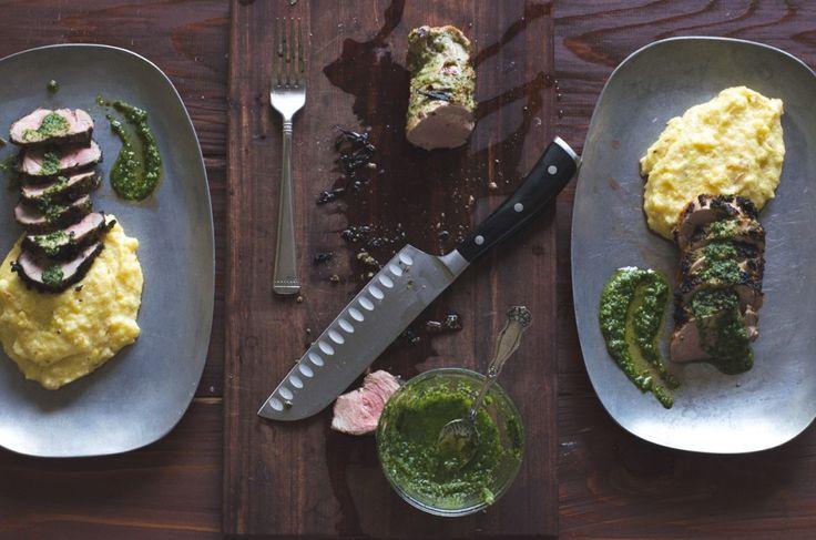 Pesto Grilled Pork Tenderloin- 2 ingredients and a grill! | Go Go Go Gourmet @gogogogourmet