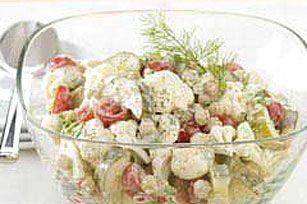 Crunchy Pickle & Vegetable Salad recipe #kraftrecipes