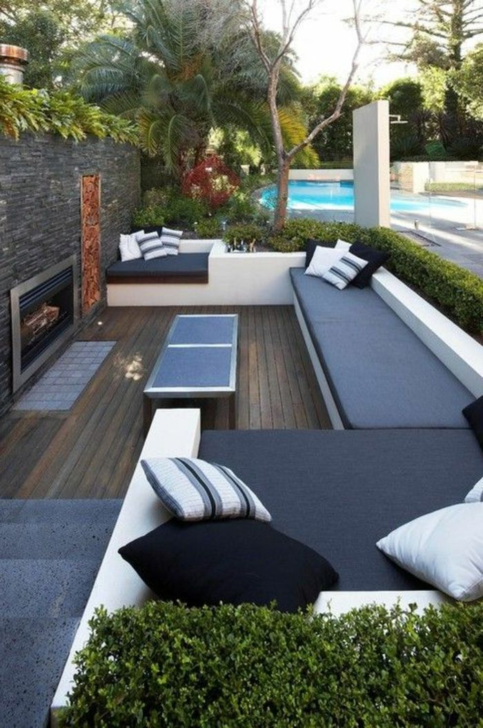 amenagement terrasse exterieur et les meubles conforama pas cher