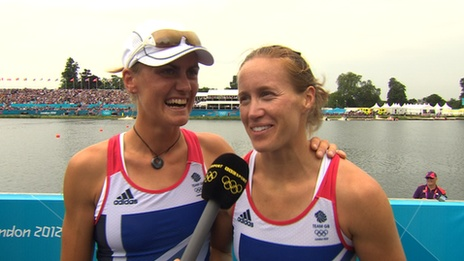 BBC Sport - London 2012 Olympics - Women's Pair : Rowing