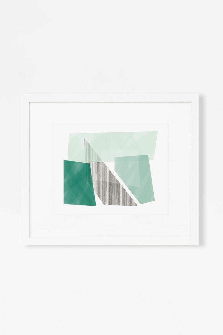 Emerald Blocks Art Print by Jaymee Srp