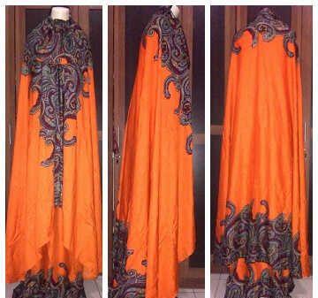 Mukena Bali XXL orange