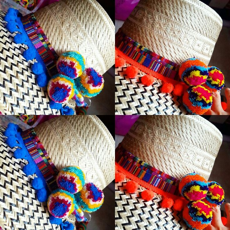 SOMBREROS DECORADOS WAYUU❤beautiful hat decorated with weave Wayuu  ♡ sombrero de paja decorado con pompones ,cintas y tejido wayuu  By @mardeamorsw ❤ #sombreroaguadeño #sombrerowayuu #sombreros #sombrerobeach #sombrerodeplaya #sombrero #sombrerodecorado #sombrerosdecorados #wayuustyle #wayuu #sandaliaswayuu #sandals #sandalias #wayuumochila #wayuubags #wayuubag #wayuubracelets #mardeamorsw