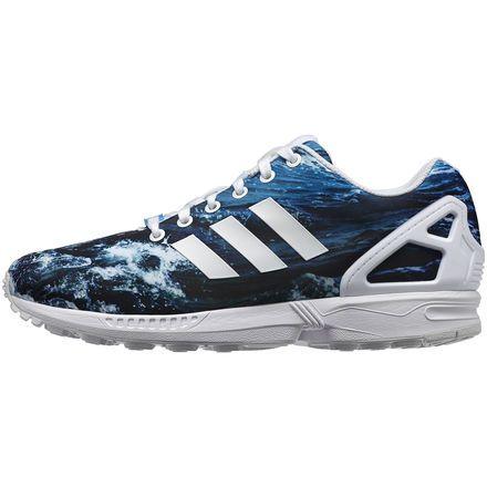 Adidas ZX Flux photoprint - Running White / Running White / Dark Solar Blue  - 2014