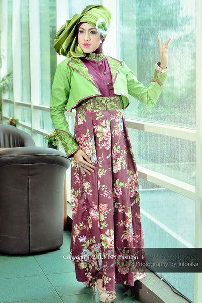 #Abaya nuansa bunga cocok dikenakan pada saat pesta atau acara formal
